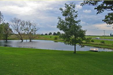 The property offers a small pond with a two seater paddle boat.